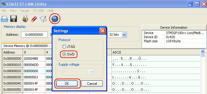 Установка драйвера для st-link/v2 под windows 8.
